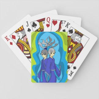 Jogo De Carta Os Gêmeos juntam cartões de jogo japoneses da arte