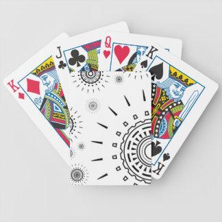 Jogo De Carta Padrões da explosão do preto no branco