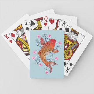 Jogo De Carta Peixes bonito de Koi do japonês
