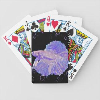 Jogo De Carta Peixes de combate roxos iridescentes