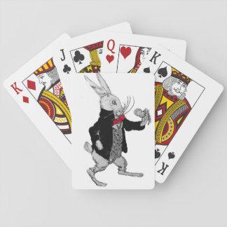 Jogo De Carta Plataforma branca pequena do coelho de Jack