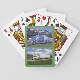 Jogo De Carta Plataforma de cartões com os dois 18 caminhões do