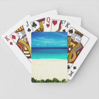 Jogo De Carta Praia tropical brilhante
