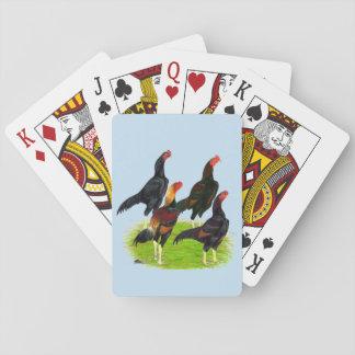 Jogo De Carta Quarteto oriental da galinha de jogo