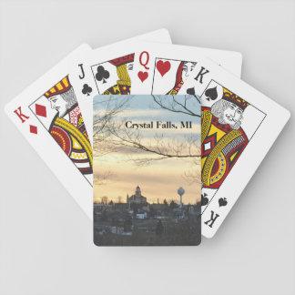 Jogo De Carta Quedas de cristal, cartões de jogo do MI
