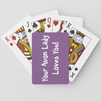 Jogo De Carta Senhora Cartão de Avon