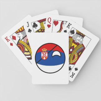Jogo De Carta Serbia Geeky de tensão engraçado Countryball