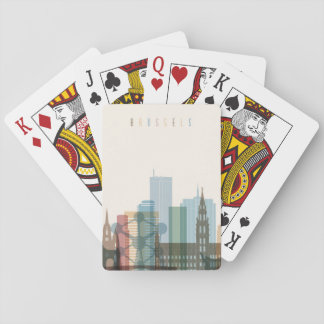 Jogo De Carta Skyline da cidade de Bruxelas, Bélgica |