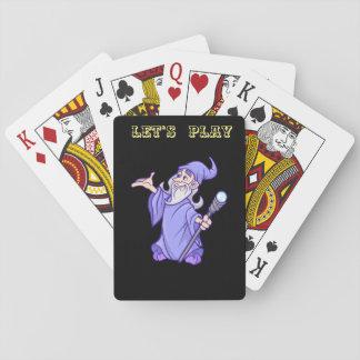 Jogo De Carta Sorceress roxo mágico do mágico do feiticeiro