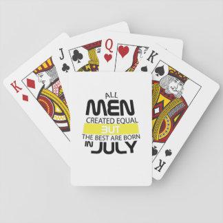 Jogo De Carta Todos os homens o melhor são em julho homem