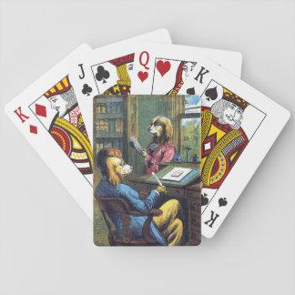 Jogo De Carta Um cão muito cortês, cartões de jogo