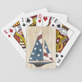 Jogo De Carta Veleiro com bandeira americana