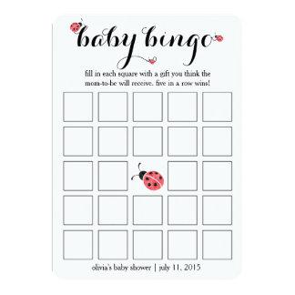 Jogo de cartas do Bingo do chá de fraldas do Convite 12.7 X 17.78cm
