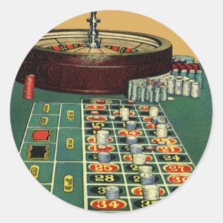 Jogo de jogo das microplaquetas do casino da mesa adesivo em formato redondo