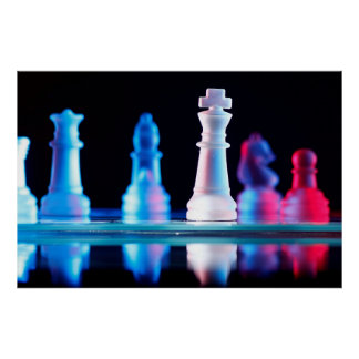 Jogo de mesa da xadrez poster