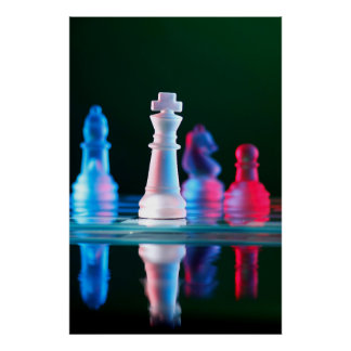 Jogo de mesa da xadrez impressão