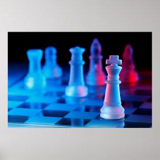 Jogo de mesa da xadrez pôsteres