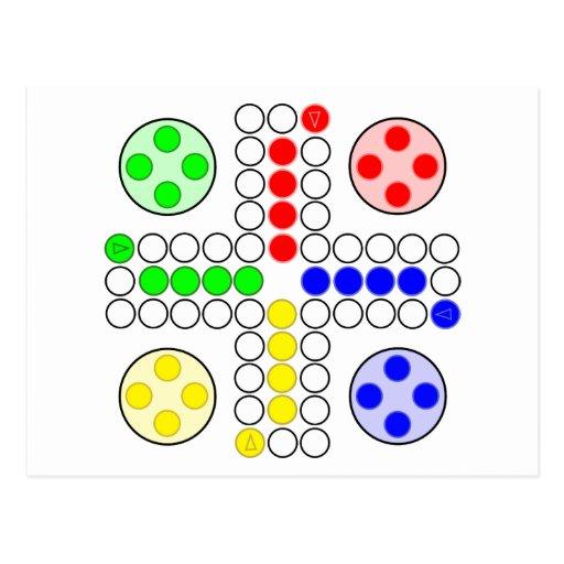 Jogo de mesa do clássico de Ludo Cartões Postais