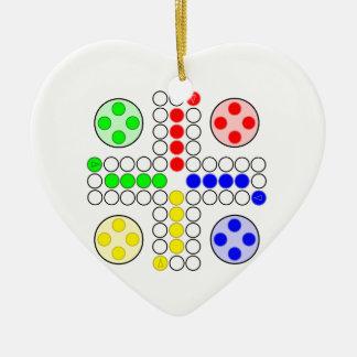 Jogo de mesa do clássico de Ludo Ornamento Para Arvore De Natal