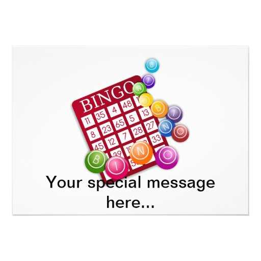 Jogo do Bingo Convites