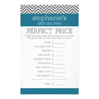 Jogo do chá de fraldas - preço direito perfeito panfletos personalizados
