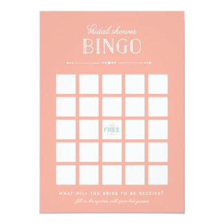 Jogo do chá de panela - Bingo Convite 12.7 X 17.78cm