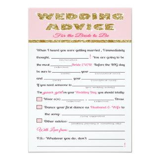 Jogo do chá de panela do conselho do casamento convite 12.7 x 17.78cm
