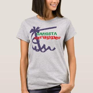 Jogo do envoltório de Gangsta na camiseta