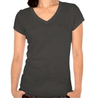 Jogo do t-shirt do V-pescoço das mulheres dos cone