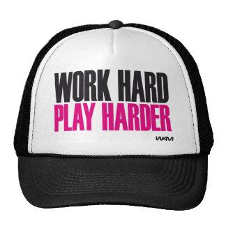 jogo duro do trabalho mais duro boné