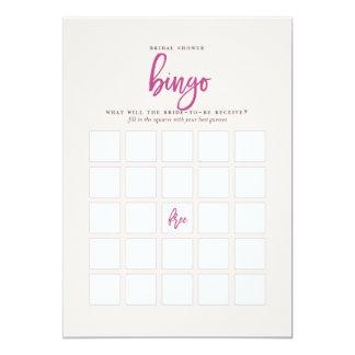 Jogo extravagante do Bingo do chá de panela do Convite 12.7 X 17.78cm