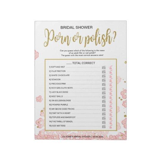 Jogo floral do rosa barato polonês do partido de caderno de anotação
