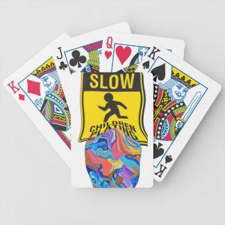 Jogo lento das crianças da flor baralho para truco