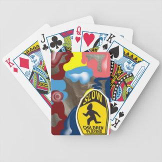 Jogo lento das crianças do guardanapo baralho para poker