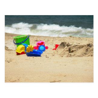 Jogo no cartão da praia