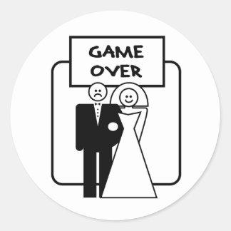 """""""Jogo sobre"""" o casamento Adesivo"""