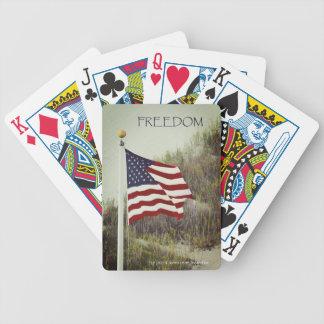 Jogos De Baralho Cartões de jogo da bicicleta da LIBERDADE