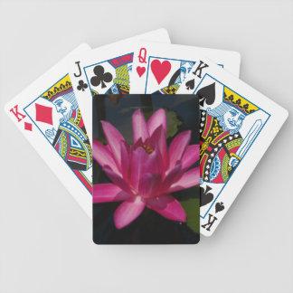 Jogos De Baralho Cartões de jogo de Lotus Waterlily do rosa quente