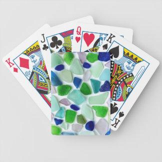 Jogos De Baralho Cartões de jogo de vidro do mar legal das cores