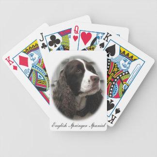 Jogos De Baralho Cartões de jogo do Spaniel de Springer inglês
