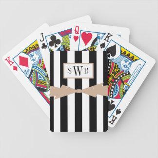 JOGOS DE BARALHO CHIQUE QUE JOGA CARDS_BLACK/WHITE STRIPES/HAZELNUT