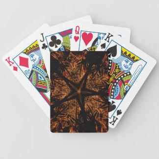 Jogos De Baralho Estrela Kaleidoscopic escura elegante de Brown do