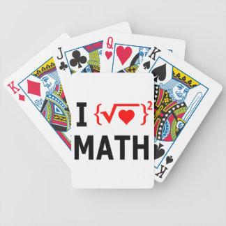 Jogos De Baralho Eu amo o branco da matemática