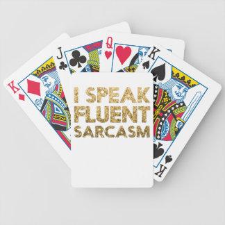 Jogos De Baralho Eu falo o sarcasmo fluente