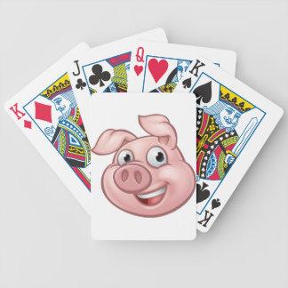 Jogos De Baralho Mascote do personagem de desenho animado do porco