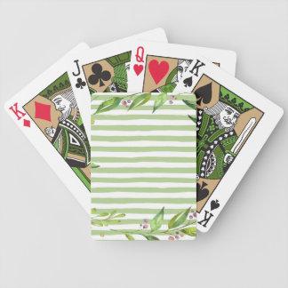 Jogos De Baralho O verde corajoso da arte da aguarela listra o