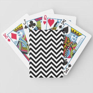 Jogos De Baralho O ziguezague preto e branco listra o teste padrão