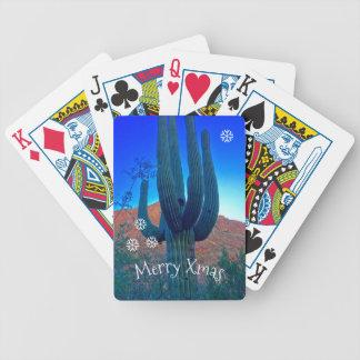 Jogos De Baralho Personalize cartões de jogo do Natal do cacto do