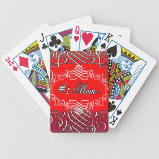 Jogos De Baralho Presente vermelho da tipografia do dia das mães da