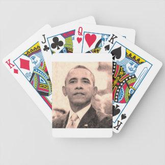 Jogos De Baralho Retrato abstrato do presidente Barack Obama 30x30